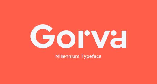 Gorva - Modern Sans Serif Font