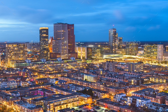 The Hague, Netherlands Cityscape - Stock Photo - Images