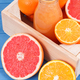 Fresh healthy smoothie from citrus fruits. Dessert containing vitamins. Dieting and slimming concept - PhotoDune Item for Sale