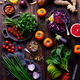 Assortment of Fresh Raw Vegetables on a Wooden Background. Top View. - PhotoDune Item for Sale