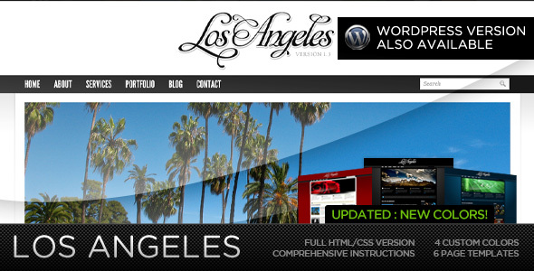Los Angeles – Premium Portfolio Template