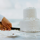 wedding cake cutting on beach - PhotoDune Item for Sale