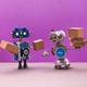 Autonomous robotics delivery service concept - PhotoDune Item for Sale