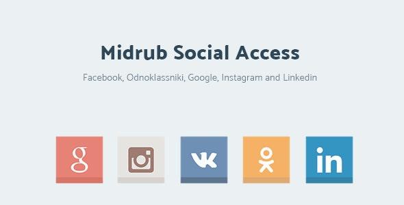 Midrub Social Access - Instagram, Odnoklassniki, VK, Linkedin and Google Access