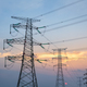 transmission line tower in sunset - PhotoDune Item for Sale