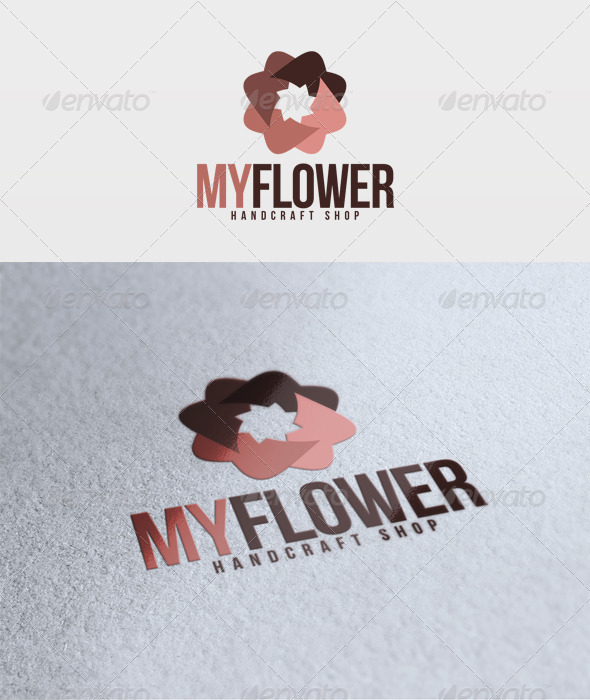 My Flower Logo - Vector Abstract