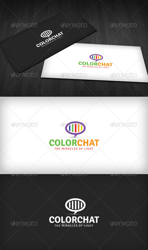 Color Chat Logo - Vector Abstract