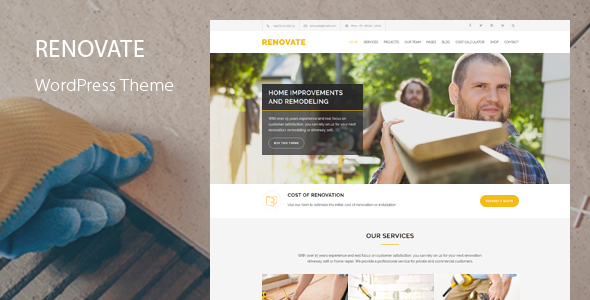 Renovate - Construction Renovation WordPress Theme
