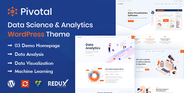 Pivotal - Data Science & Analytics WordPress Theme
