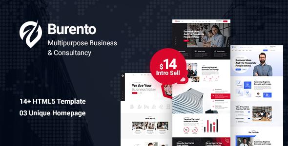 Excellent Burento - MultiPurpose Business HTML5 Template