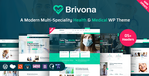 Download Brivona – Medical, Health and Hospital WordPress Theme Free Nulled