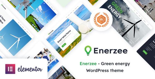 Enerzee - Renewable Energy WordPress Theme