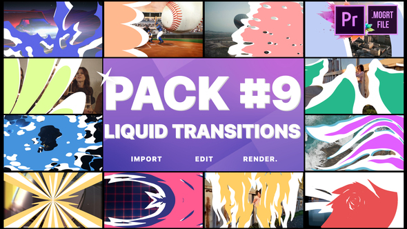 Liquid Transitions Pack 09 | Premiere Pro MOGRT