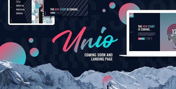 Unio - Coming Soon & Landing Page Template