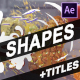 Shapes And Titles | After Effects - VideoHive Item for Sale