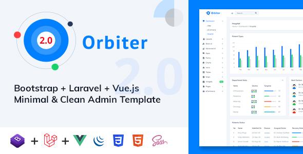 Orbiter - Bootstrap + Laravel + Vue Minimal & Clean Admin Template by Themesbox17