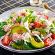 Tuna fish salad with lettuce, cherry tomatoes, avocado and red onions. Healthy food. French cuisine. - PhotoDune Item for Sale