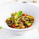 Stir fry vegetables with mushrooms, paprika, red onions and broccoli. Healthy food. Asian cuisine. - PhotoDune Item for Sale