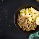 Stew beef, pieces of beef stewed with pickled cucumber in russian style - PhotoDune Item for Sale