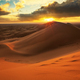 Sunset over the sand dunes in the desert - PhotoDune Item for Sale