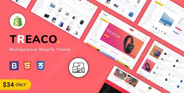 Treaco - Multipurpose E-commerce Shopify Theme