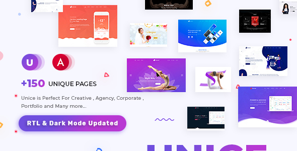 Unice - Multipurpose Angular 10 Template for SaaS, Startup & Agency