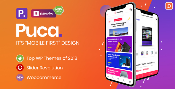 Puca - Optimized Mobile WooCommerce Theme