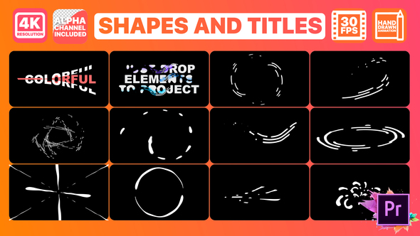 Shapes And Titles | Premiere Pro MOGRT