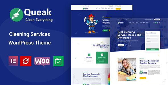 Queak - Cleaning Services WordPress Theme