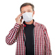 Sick man in a medical mask calls a doctor - PhotoDune Item for Sale
