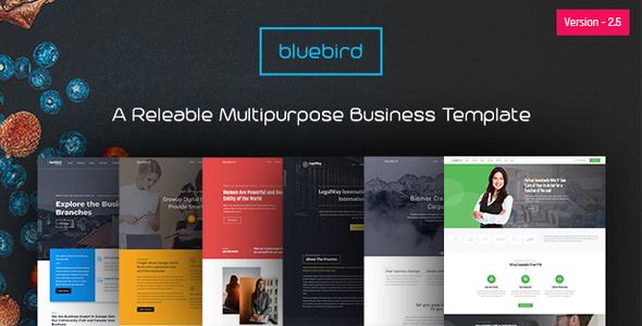 Bluebird - Multipurpose Business HTML Template by Unicoder