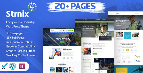 Strnix - Solar and Green Energy WordPress Theme by SmartDataSoft