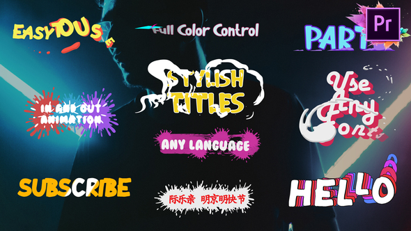 Stylish Titles | Premiere Pro MOGRT