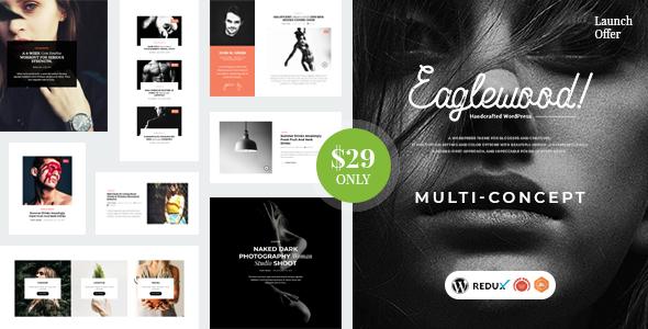 Download Eaglewood – Modern WordPress Blog Theme Free Nulled
