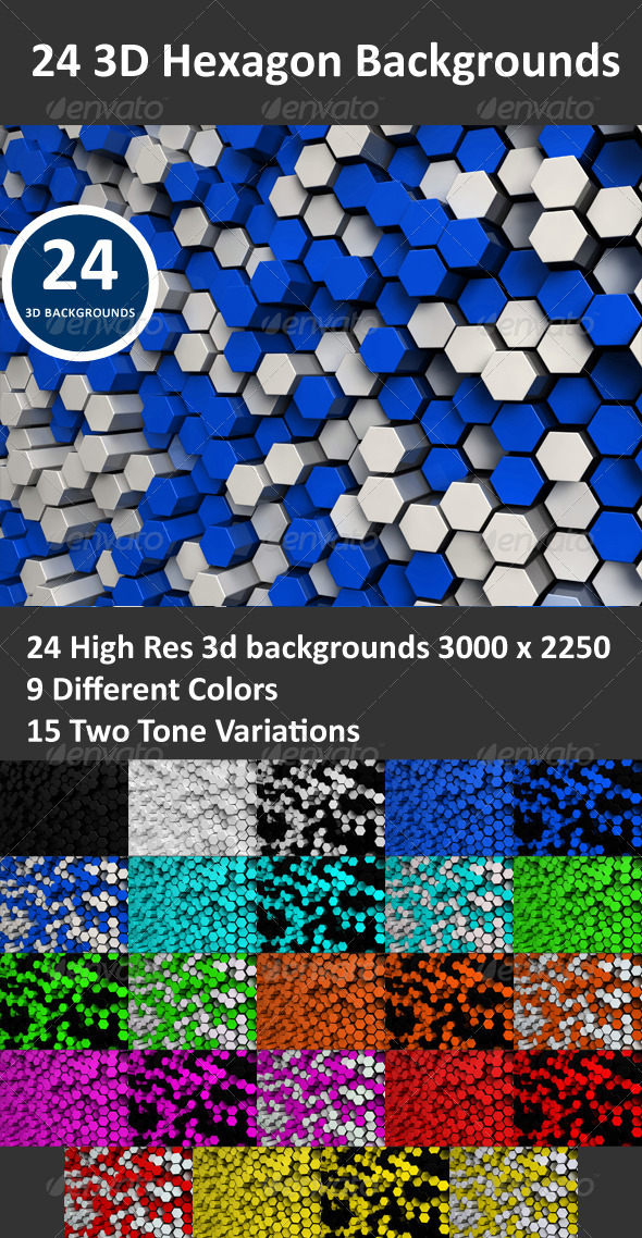Hexagon 3D Backgrounds - 3D Backgrounds