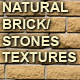 Natural brick/stone wall textures - GraphicRiver Item for Sale