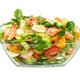 Salad with avocado, shrimp, fresh cherry tomatoes, quail egg and arugula - PhotoDune Item for Sale