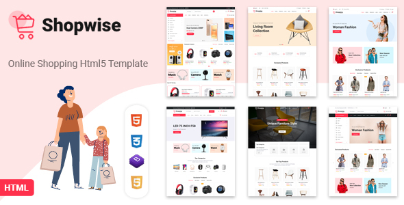 Shopwise - eCommerce Bootstrap 4 HTML Template