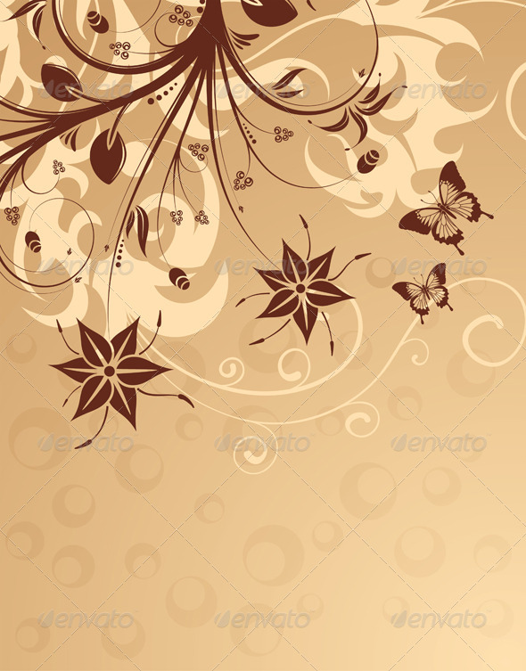 Flower background - Borders Decorative