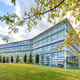 Modern glass fronted office building in spring - PhotoDune Item for Sale