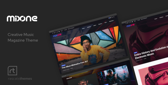Mixone -  WordPress Music Magazine with Ajax and Continuous Playback