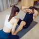 Morning fit training of couple at home - PhotoDune Item for Sale