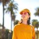 Smiling woman in a yellow sweatshirt - PhotoDune Item for Sale