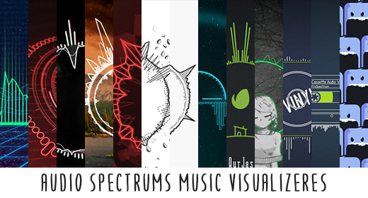 Audio Spectrums Music Visualizers