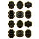 Set of gold and black labels - GraphicRiver Item for Sale