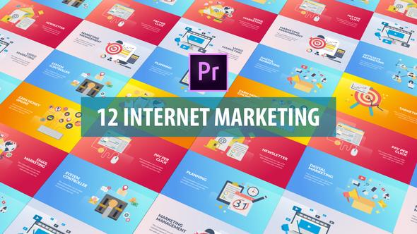 Internet Marketing – Flat Animation (MOGRT)