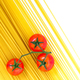 Uncooked spaghetti and cherry tomatoes - PhotoDune Item for Sale