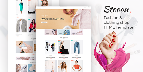 Stooon – Fashion & clothing shop html Template