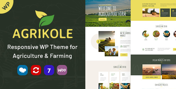 Agrikole | Responsive WordPress Theme for Agriculture & Farming