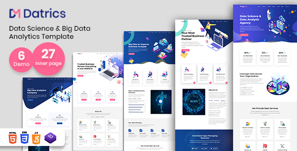 Datrics - Data Science and Big Data Analytics HTML Template